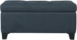 Worldwide Homefurnishings Worldwide Home Furnishings Sarah Storage Ottoman