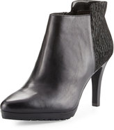 Elie Tahari Gordan Leather/Suede Bootie, Black