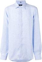 Fay checked shirt - men - Linen/Flax - 40