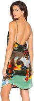 OSKLEN Feather Floral Dress