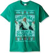 WWE Men's Ric Flair Stylin and Profilin Ugly Christmas T-Shirt