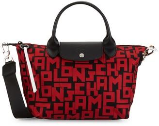 Longchamp Le Pliage Neo Leather-Trim Nylon Satchel