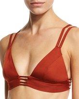 Vitamin A Jaydah Strappy Braided Bralette Swim Top, Metallic Orange