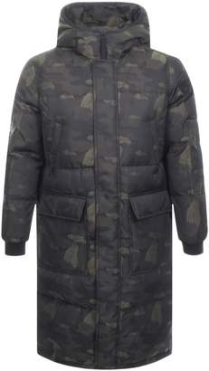True Religion Down Camo Jacket Black
