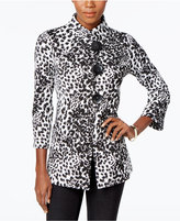 JM Collection Petite Printed Jacket, Only at Macy's