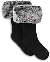 UGG Rib Knit Socks with Faux Fur Cuffs