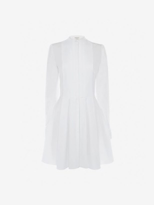 Alexander McQueen Cotton Poplin Mini Dress