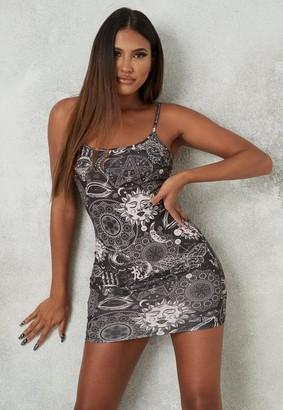 Missguided Black Galaxy Print Cami Mini Dress