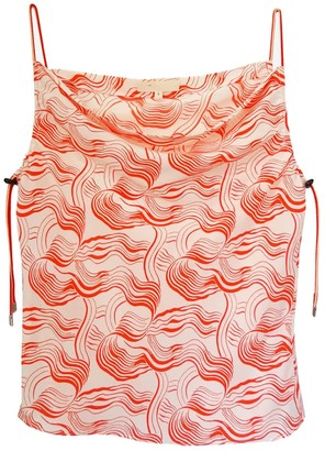 Not Red Swirl Silk Tank With Bungee Cord Straps