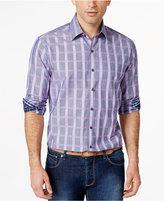 Tasso Elba Men's Grid-Print Long-Sleeve Shirt, Only at Macy's