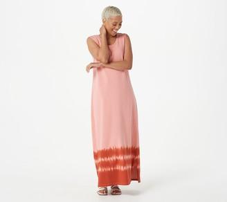 Denim & Co. Perfect Jersey Scoop Neck Maxi Dress w/ Border Print
