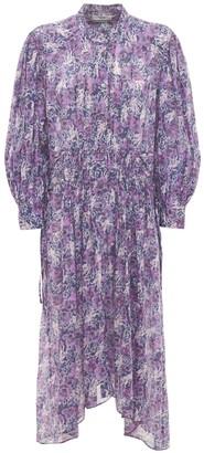 Etoile Isabel Marant Ariana Printed Cotton Midi Dress