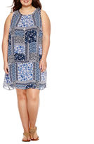 BY AND BY Byer Print Dress - Juniors Plus