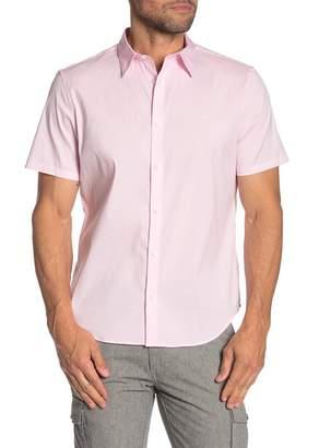 Calvin Klein Solid Short Sleeve Stretch Fit Shirt