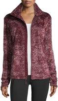 The North Face Novelty Osito Fleece Sport Jacket, Deep Garnet Red Marble