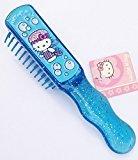 "Hello Kitty 6"" Blue Glitter Anti-static Hair Brush"
