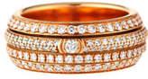 Piaget Possession Full Pavé Diamond Band Ring in 18K Rose Gold, Size 54