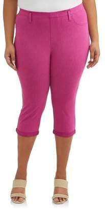 Terra & Sky Women's Plus Size Jegging Capri