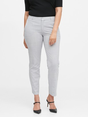 Banana Republic Curvy Ryan Slim Straight-Fit Washable Wool-Blend Pant