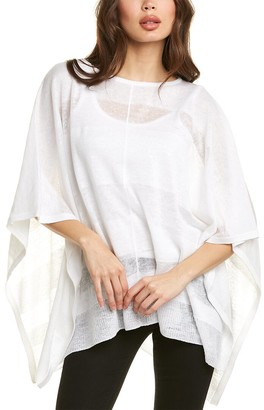 Forte Cashmere Shadow Stripe Linen Poncho