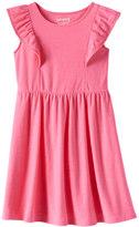 Jumping Beans Girls 4-10 Jumping Beans® Ruffle Flutter Solid Skater Dress