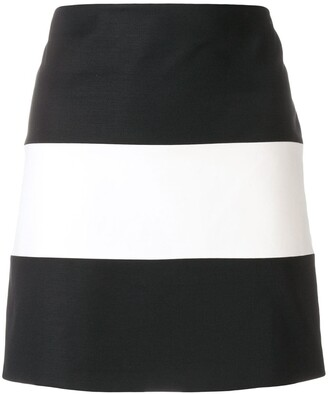 Giorgio Armani Pre-Owned Striped Mini Skirt
