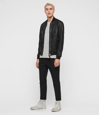 AllSaints Blythe Leather Bomber Jacket