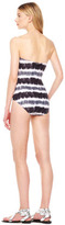 MICHAEL Michael Kors Striped Side-Zip Maillot