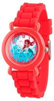 Disney Girls' Princess Ariel Red Plastic Time Teacher Watch - Red