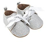 HOT Sale! Baby Shoes, TRENDINAO Newborn Baby Toddlers Girls Boys Sequins Shoes Leopard Up Slip Lace Bow Tie Sneaker (9-12 Months, Silver)