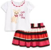 Kate Spade Infant Girl's Cha Cha Cha Shirt & Skirt Set