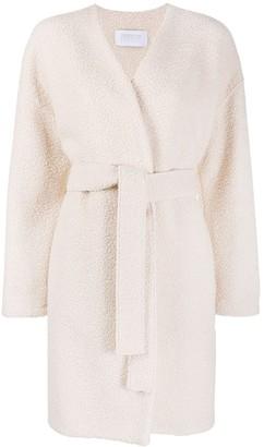 Harris Wharf London Front Tie Long-Sleeved Coat