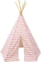 Nobodinoz Arizona Diamond-Pattern Cotton Play Tent-PINK