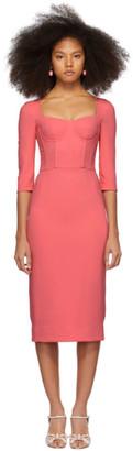Dolce & Gabbana Pink Crepe Bustier Dress
