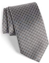 David Donahue Men's Neat Silk Tie