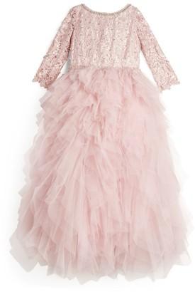 Lesy Ruffled Tulle Dress (8-14 Years)