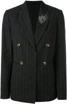 Brunello Cucinelli pinstripe double-breasted blazer