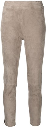 Incentive! Cashmere Cropped Leather Trousers