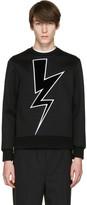 Neil Barrett Black Velvet Thunderbolt Pullover