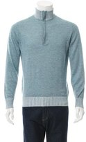 Loro Piana Suede-Trimmed Cashmere-Blend Sweater