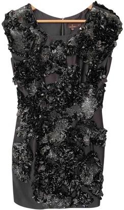 Mulberry Black Silk Dress for Women