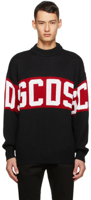GCDS Black and Red Logo Sweater