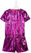 Roberto Cavalli teen sequin embellished playsuit - kids - Polyester/Acetate/Cupro - 14 yrs