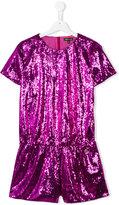 Roberto Cavalli teen sequin embellished playsuit