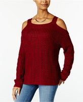 Hooked Up by IOT Juniors' Cold-Shoulder Sweater