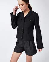 Nicole Miller Crinkle Denim Jacket