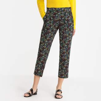 """Toupy Sienna Floral Print Slim Fit Trousers, Length 26"""""""