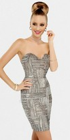 Scala Sweetheart Necked Horizontal and Vertical Sequined Dresses