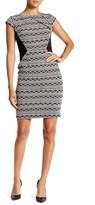 Adrianna Papell AP1D100324 Origami Knit Sheath Dress