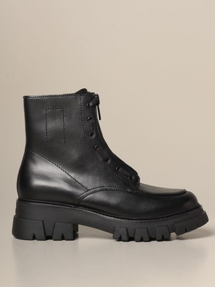 Ash Lynch Amphibian In Leather With Rubber Sole